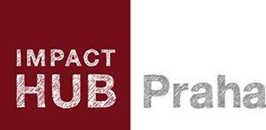 Impact Hub Praha logo RED