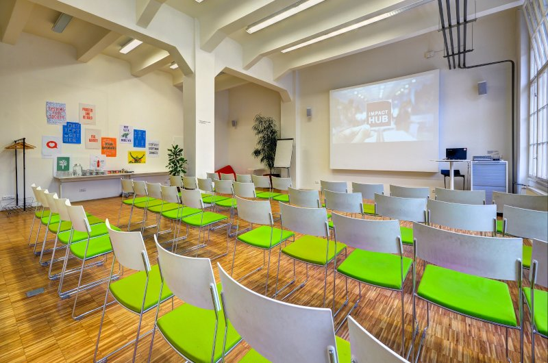 Big conference room at Impact Hub Prague D10